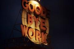 Good-Bye Work (Installation View – Night)